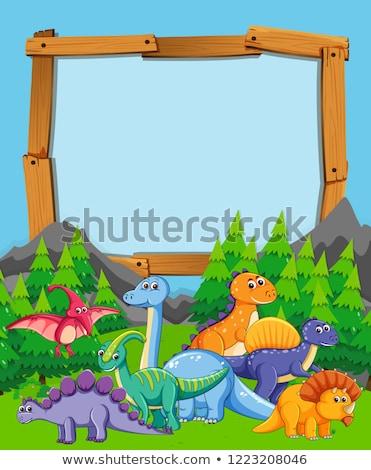 多くの 恐竜 自然 実例 風景 葉 ストックフォト © colematt