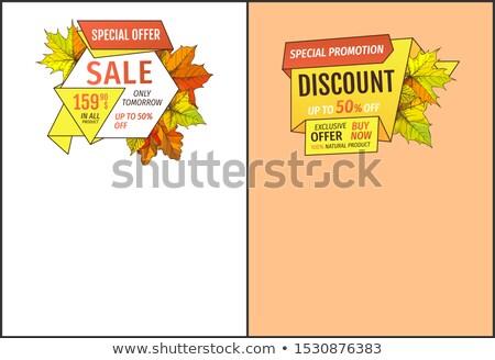 Verkauf morgen fünfzig Prozent aus Stock foto © robuart