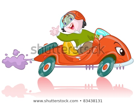 Kid Boy Car Acceleration Motion Illustration Stock photo © lenm