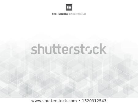 Blanco hexágono estructura cubrir elementos Foto stock © limbi007