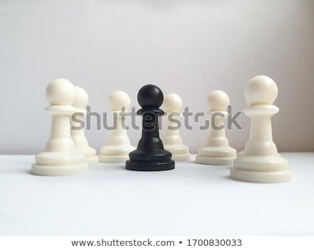 rei · do · xadrez · branco · xadrez · preto · sucesso · jogar - foto stock © limbi007
