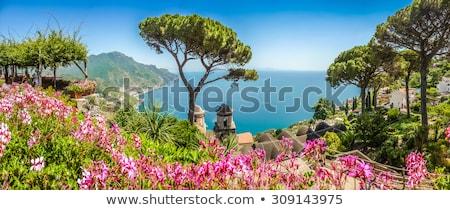 manzara · İtalyan · köy · gökyüzü · bahar · çim - stok fotoğraf © neirfy