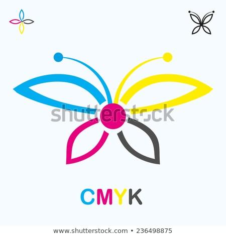 Druku Motyl ikona logo wektora tle Zdjęcia stock © blaskorizov