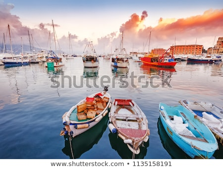 Town Rapallo on Ligurian riviera in Italy Stock photo © boggy