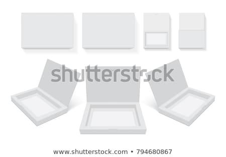 karton · pizza · kutusu · kapalı · yalıtılmış · kırmızı · konteyner - stok fotoğraf © robuart