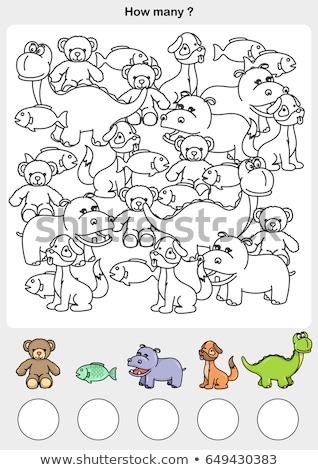 Math dinosauri illustrazione sfondo arte tropicali Foto d'archivio © colematt