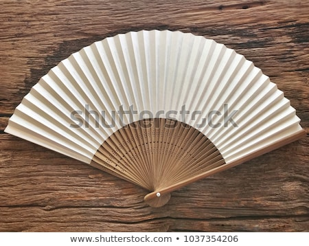 chinese fan made of paper and wood chinese style stock photo © robuart