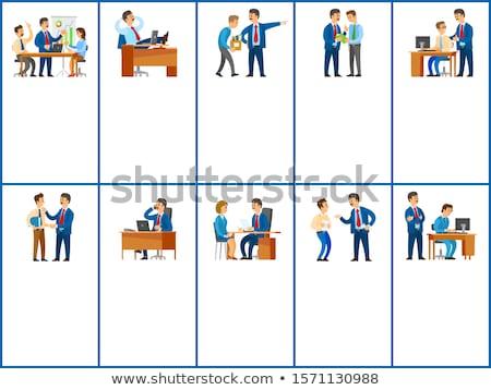 iroda · férfi · munka · öltöny · munkás · állás - stock fotó © robuart