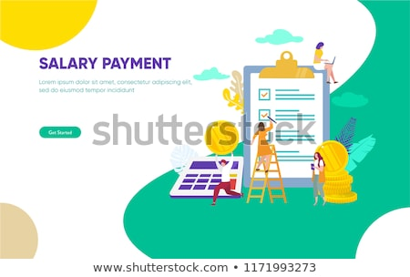 Paycheck concept landing page. Stock photo © RAStudio