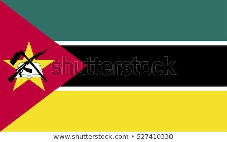 Moçambique bandeira branco grande conjunto projeto Foto stock © butenkow