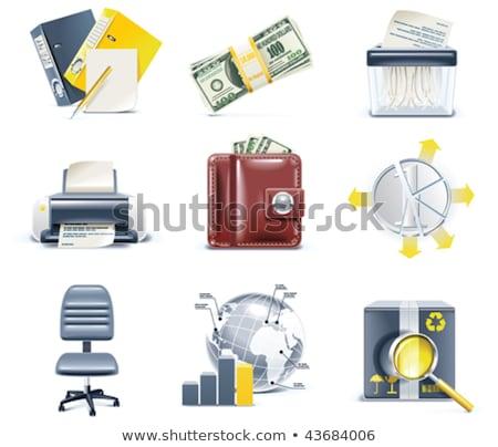 escritório · cartão · diferente · isolado - foto stock © kup1984