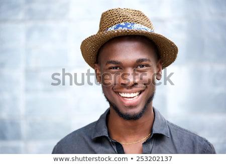 közelkép · afrikai · férfi · nedves · textúra · arc - stock fotó © deandrobot