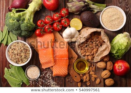 gesunde · Lebensmittel · leer · Tablet · Internet · Hintergrund · Tabelle - stock foto © ra2studio