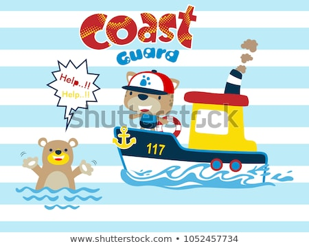 Coast Guard Transportation Vehicle Sails in Water Stock photo © robuart