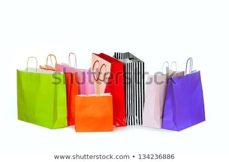 rij · kleurrijk · geïsoleerd · witte · winkelen - stockfoto © dolgachov