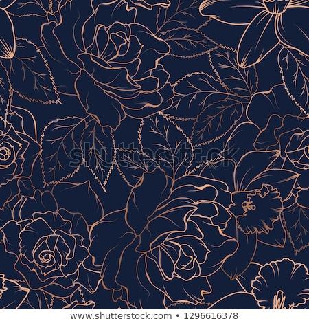 rose · rosse · nero · vettore · bella · fiori - foto d'archivio © elenashow
