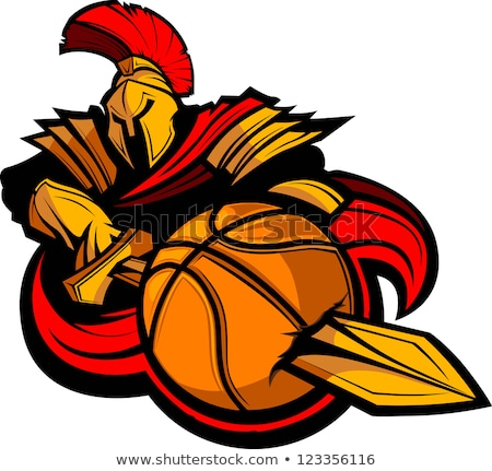 Trojan Spartan Basketball Sports Mascot Foto stock © ChromaCo