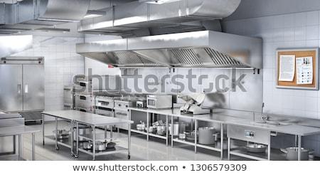 Fregadero cocina instalación acero inoxidable piso Foto stock © AndreyPopov