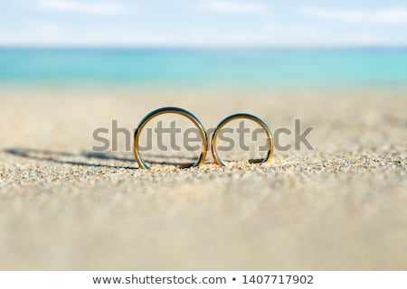 結婚指輪 ビーチ 砂 海 ストックフォト © AndreyPopov