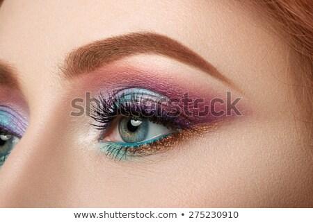синий ярко глазах составляют копия пространства Сток-фото © dariazu