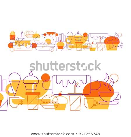 Cafe banketbakkerij collage zoete gebakken Stockfoto © netkov1