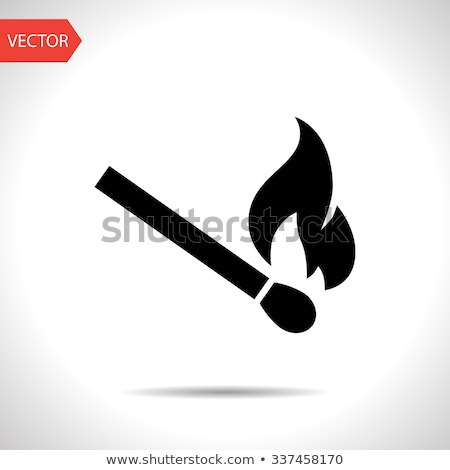 Flat matches icon Stock photo © netkov1