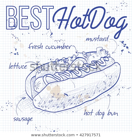 hot dog recipe on a notebook page Stock photo © netkov1