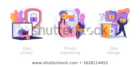 Data leakage concept vector illustration Stock photo © RAStudio