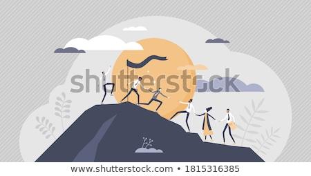 pouvoir · histoire · vecteur · signe · temps · histoire - photo stock © rastudio