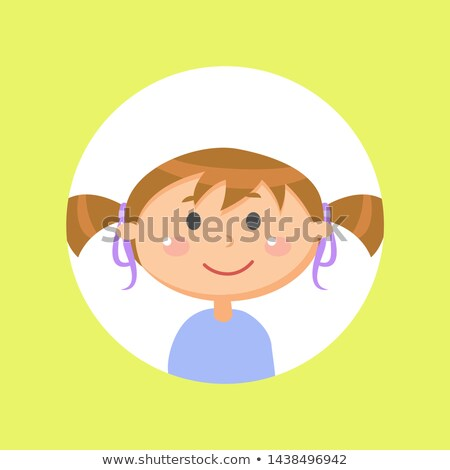 Schoolgirl with Pony Tails, Child or Girl Avatar Stock photo © robuart