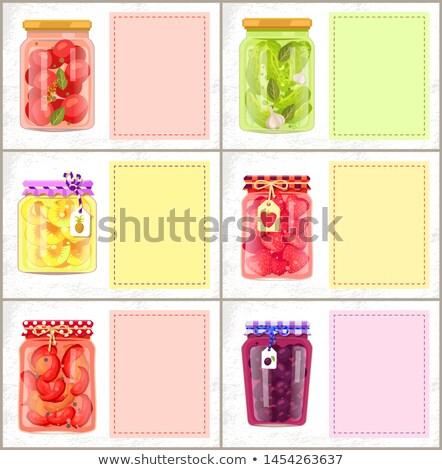 ананаса Ломтики консервированный продовольствие плакат Сток-фото © robuart