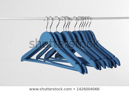 Lege garderobe rij hout meubels slaapkamer Stockfoto © magraphics