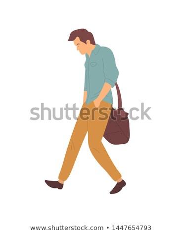 Сток-фото: расстраивать · человека · ссориться · ходьбе · вектора