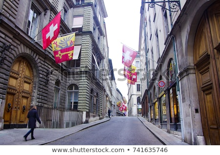 Сток-фото: улице · Швейцария · исторический · здании · старый · город
