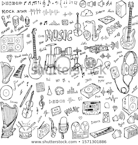 пения песня коллекция Элементы вектора Сток-фото © pikepicture