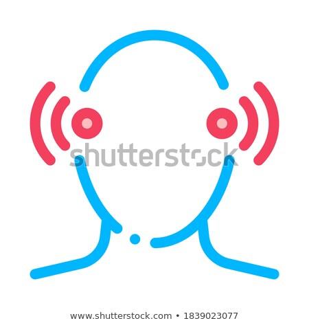 нервная · система · голову · икона · вектора · тонкий · линия - Сток-фото © pikepicture