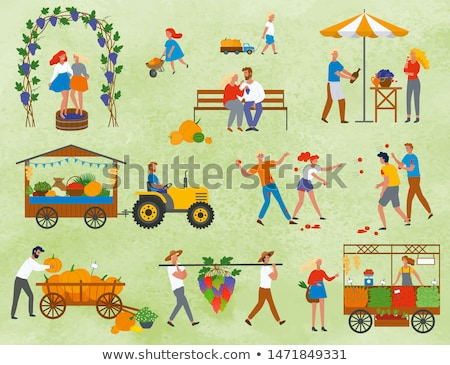 harvest festival in europe products set vector stock photo © robuart