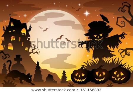 かかし トピック 画像 秋 帽子 図面 ストックフォト © clairev