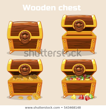 Treasure Chest Collection Color Set Vector Stock photo © pikepicture
