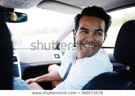 portret · młodych · szczęśliwy · człowiek · podział · podróży - zdjęcia stock © andreypopov