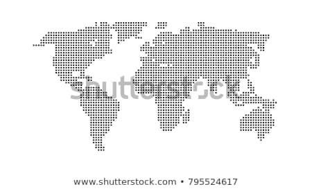Colorful europe and asia pixel map template Stock photo © cienpies