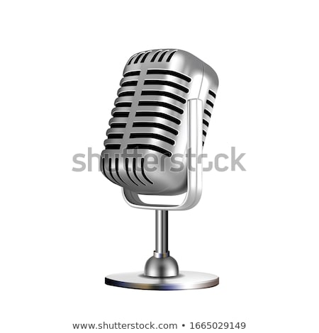Retro Vocal Radio Microphone Color Vector Stock photo © pikepicture