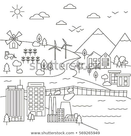 Città parco moderno sottile line design Foto d'archivio © Decorwithme