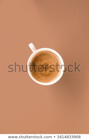 Beker hot frans koffie ontbijt drinken Stockfoto © Anneleven