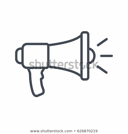 Speaker Icon Vector Outline Illustration Stock photo © pikepicture
