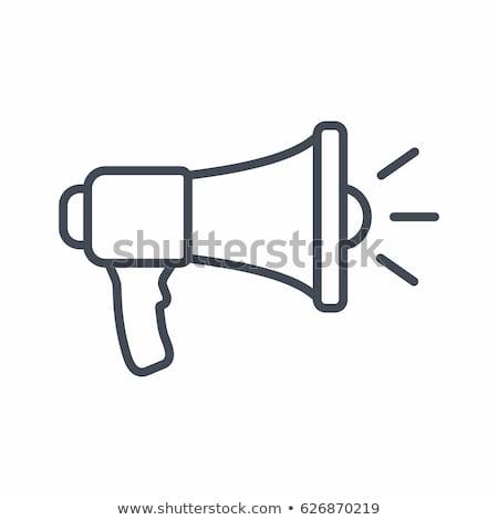 Orador icono vector ilustración signo Foto stock © pikepicture