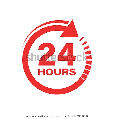 24 hours open shop flat vector illustration Stock photo © RAStudio