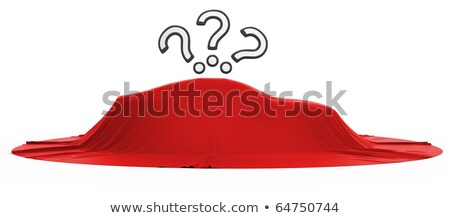 New Car Reveal With Query Marks Above Stok fotoğraf © Arsgera