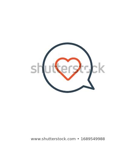 Amore messaggio lineare cuore fumetto icona Foto d'archivio © kyryloff