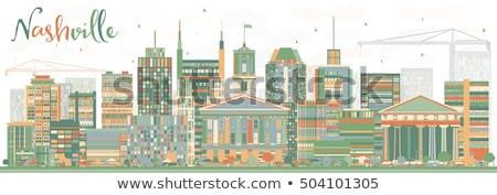 Abstrato linha do horizonte cor edifícios turismo Foto stock © ShustrikS